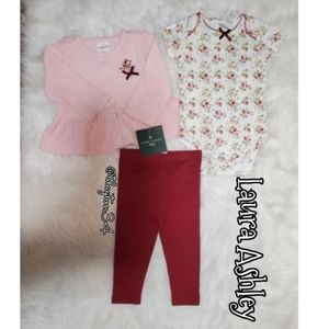 NWT 6-9M baby girl Laura Ashely 3 piece set